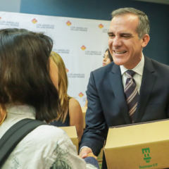 Mayor Garcetti Launches 'Connect to Success' To Provide Free Laptops to LA College Promise Students