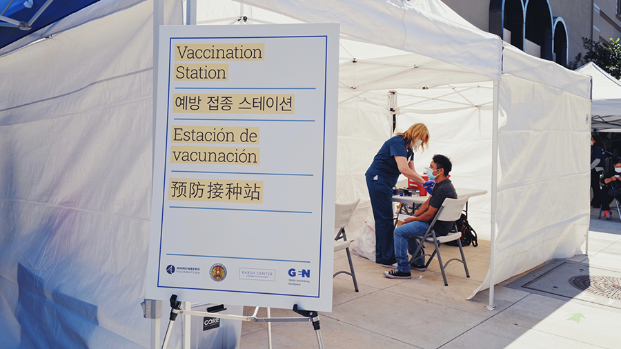 Providing vaccines to seniors and under-resourced communities is a priority for the Annenberg Foundation.